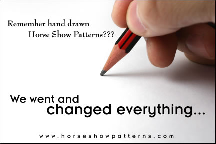 Horse Show Patterns.com is perfect for judges who want to present professional, custom patterns without the headache of having to draw or create patterns on their computer.